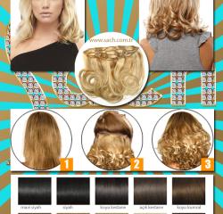 30Cm Tek Parça Dolgunlaştırıcı Gerçek İnsan Saçı Yarım Ay Çıt Çıt Saç