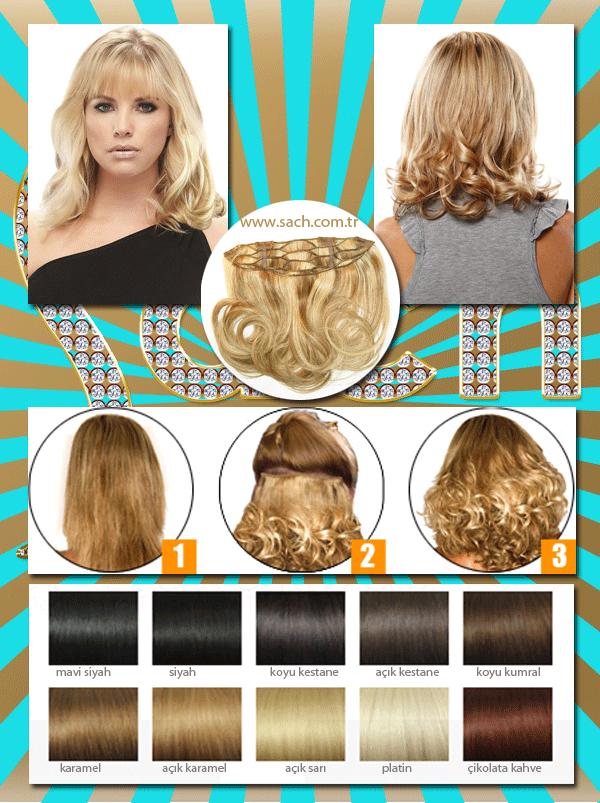 30Cm Tek Parça Dolgunlaştırıcı Gerçek İnsan Saçı Yarım Ay Çıt Çıt Saç (1-adet)