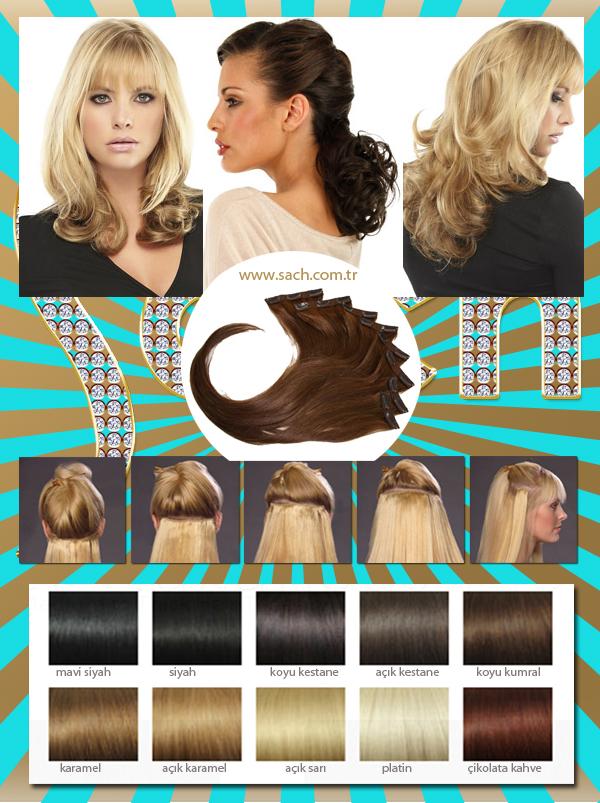 35Cm  70gr 8 Parça Doğal Gerçek İnsan Saçı Çıt Çıt Saç